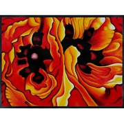 La Pastiche Oriental Poppies by Georgia O'Keeffe Framed Graphic Art