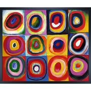 La Pastiche Farbstudie Quadrate (Color Study of Squares) by Kandinsky Framed Graphic Art