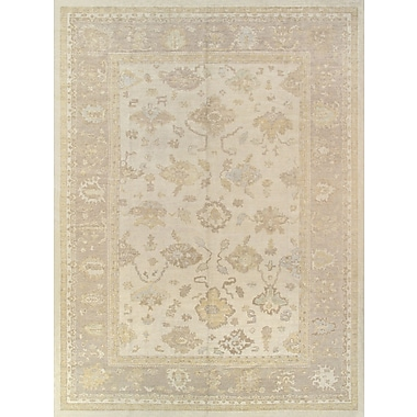 Pasargad Oushak Hand-Knotted Ivory Area Rug
