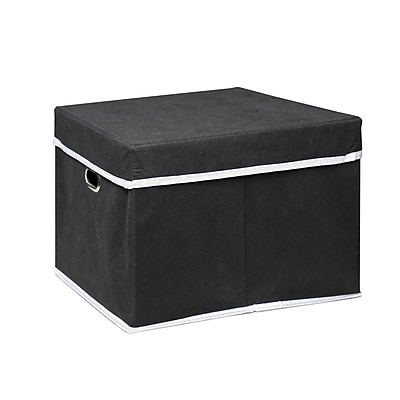Furinno Non-Woven Fabric Heavy-Duty Box; Black