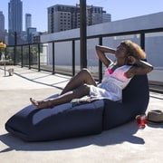 Jaxx Prado Outdoor Bean Bag Chaise Lounge Chair; Navy