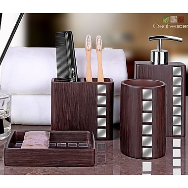 Creative Scents Marquee 4-Piece Bathroom Accessory Set