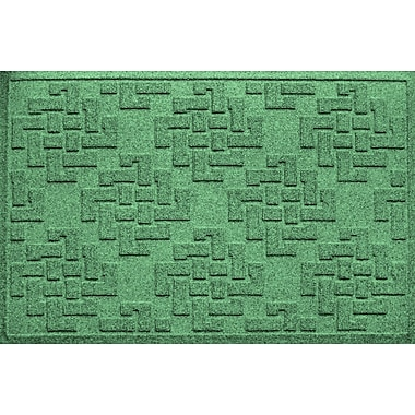 Bungalow Flooring Aqua Shield Jasper Doormat; Light Green