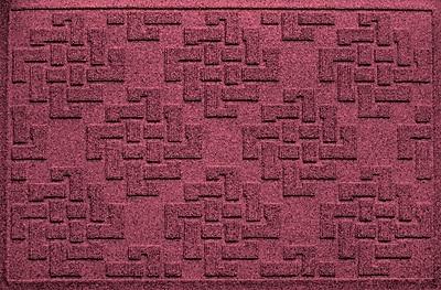 Bungalow Flooring Aqua Shield Jasper Doormat; Bordeaux
