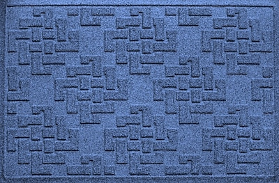 Bungalow Flooring Aqua Shield Jasper Doormat; Navy