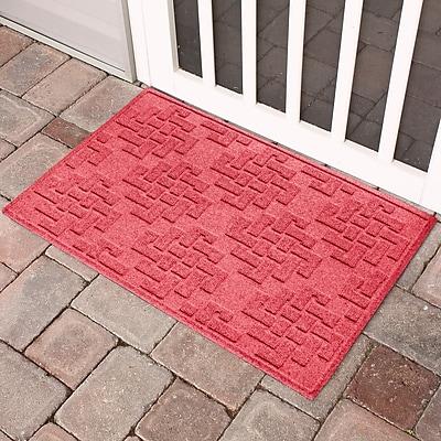 Bungalow Flooring Aqua Shield Jasper Doormat; Solid Red