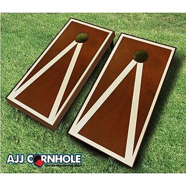 AJJCornhole 10 Piece Pyramid Cornhole Set; Red/Orange