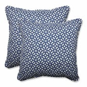 Pillow Perfect In the Frame Indoor/Outdoor Throw Pillow (Set of 2); Sapphire