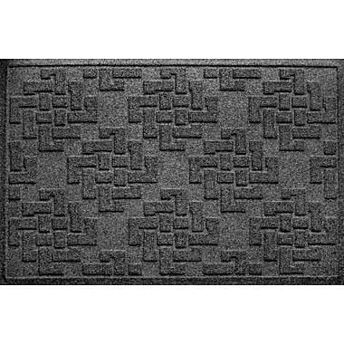 Bungalow Flooring Aqua Shield Jasper Doormat; Charcoal