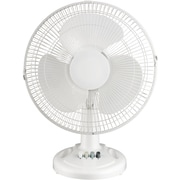 "Royal Sovereign, 12"" Desk Fan, White (DFN-30B)"