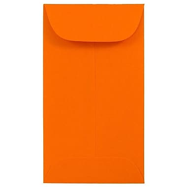 JAM PaperMD – Enveloppes à monnaie no 6, 3 3/8 x 6 po, papier recyclé Brite Hue orange, 100/paquet