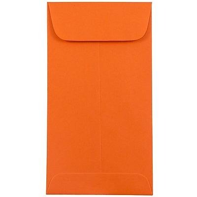 JAM Paper® #7 Coin Envelopes, 3 3/8 x 6, Brite Hue Orange Recycled, 500/box (1526755H)