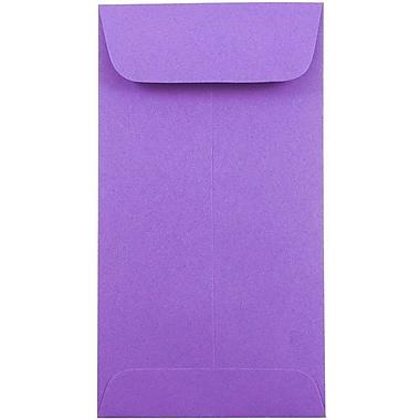 JAM Paper - Enveloppes à monnaie nº 7, 3 1/2 x 6 1/2 po, violet Brite Hue, 50/paquet