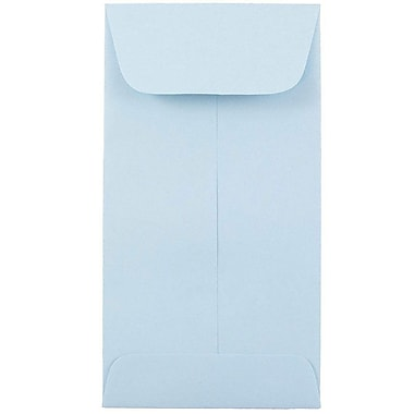 JAM PaperMD – Enveloppes à monnaie nº 7, 6,5 x 3,5 po, bleu poudre, 500/paquet