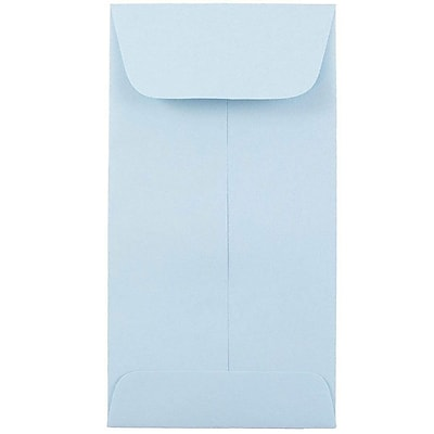 JAM Paper® #7 Coin Envelopes, 6.5 x 3.5, Baby Blue, 250/carton (1526770C)