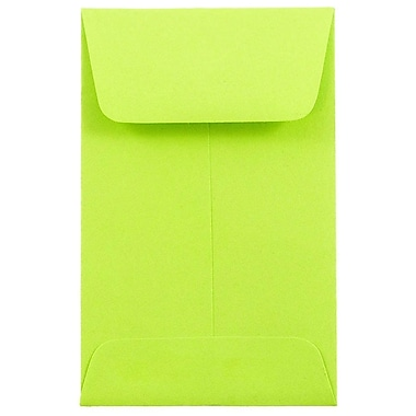 JAM Paper® #1 Coin Envelopes, 2.25 x 3.5, Terra Green, 50/Pack
