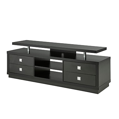 Brassex 14856 66' TV Stand, Black, 66