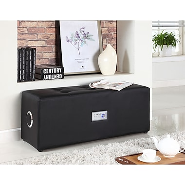 Brassex 558 Ottoman with Audio, Black, 38
