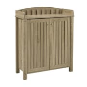 """Brassex 151154-DT Shoe Cabinet with Top Border, 31.25"""" x 13.25"""" x 39.25"""""""