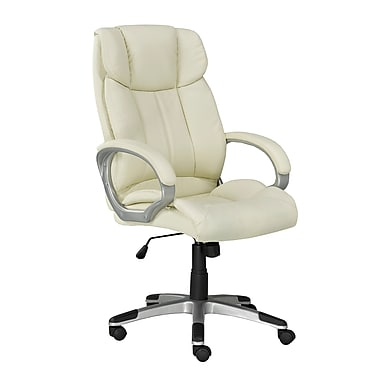 Brassex 2955-BEI Office Chair with Gas Lift and Tilt Mechanism, Beige, 26