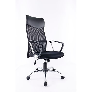 Brassex 1042 Office Chair with Gas Lift and Tilt Mechanism, Black