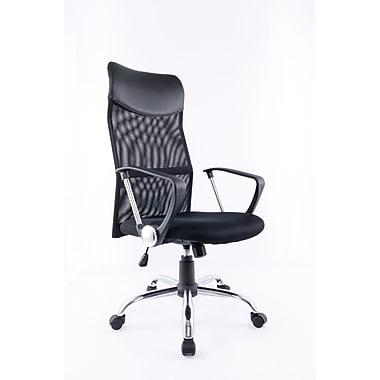 Brassex – Fauteuil de bureau 1042 avec hauteur et inclinaison réglables, noir