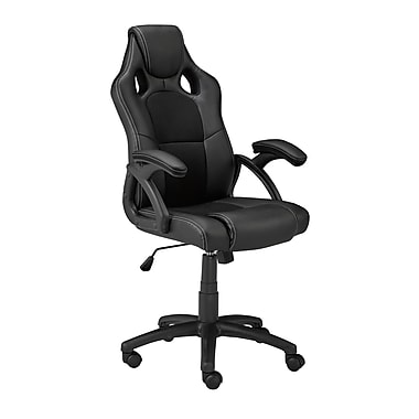 Brassex 9157-BK Office Chair with Gas Lift and Tilt Mechanism, 23