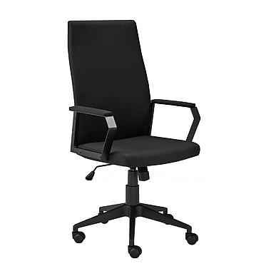 Brassex 2840-BK Office Chair with Gas Lift and Tilt Mechanism, Black, 23