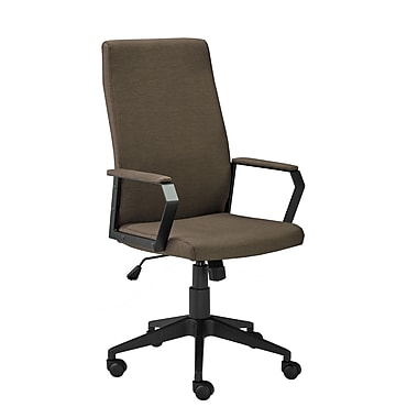 Brassex 2840-BR Office Chair with Gas Lift and Tilt Mechanism, Brown, 23