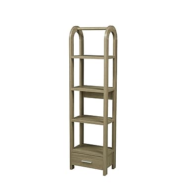 Brassex 14905-DT 4-Tier Display Shelf with Storage Drawer, 17.25