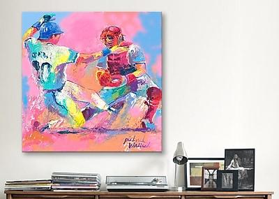 iCanvas ''Baseball'' by Richard Wallich Painting Print on Canvas; 12'' H x 12'' W x 1.5'' D