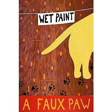 iCanvas Stephen Huneck A Faux Paw Yellow by Stephen Huneck Painting Print on Wrapped Canvas