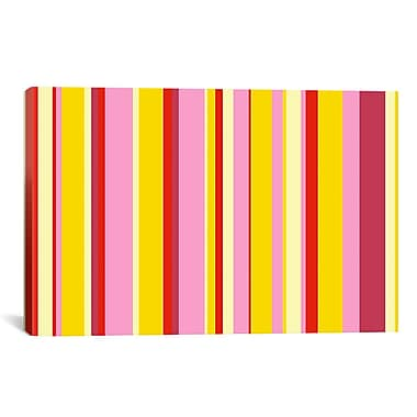 iCanvas Striped Fruity Ice Cream Dessert Graphic Art on Canvas; 8'' H x 12'' W x 0.75'' D