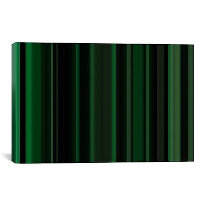 iCanvas Striped Dark Matrix Green Graphic Art on Canvas; 18'' H x 26'' W x 1.5'' D