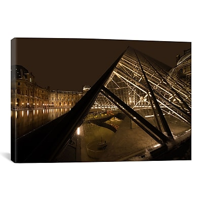 iCanvas 'Louvre' by Sebastien Lory Photographic Print on Canvas; 18'' H x 26'' W x 0.75'' D