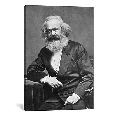 iCanvas Political Karl Marx Portrait Photographic Print on Canvas; 60'' H x 40'' W x 1.5'' D