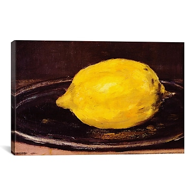 iCanvas 'The Lemon' by Edouard Manet Painting Print on Wrapped Canvas; 40'' H x 60'' W x 1.5'' D