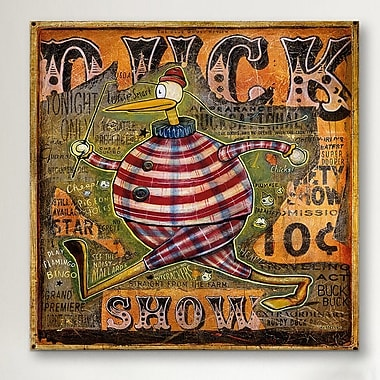 iCanvas 'Duck Show' by Daniel Peacock Graphic Art on Wrapped Canvas; 26'' H x 26'' W x 1.5'' D