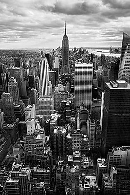 iCanvas New York City Downtown II by Nina Papiorek Photographic Print on Wrapped Canvas