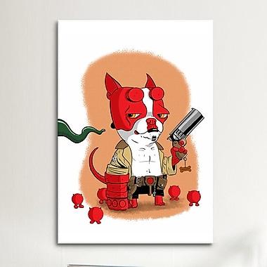 iCanvas 'BT Hell Boy' by Brian Rubenacker Graphic Art on Canvas; 18'' H x 12'' W x 1.5'' D