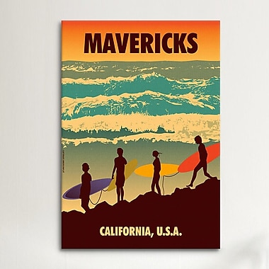 iCanvas American Flat Mavericks Graphic Art on Canvas; 40'' H x 26'' W x 0.75'' D