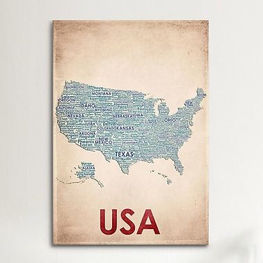 iCanvas USA Graphic Art on Canvas; 41'' H x 27'' W x 1.5'' D