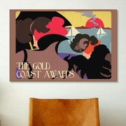 iCanvas American Flat Gold Coast Graphic Art on Wrapped Canvas; 18'' H x 26'' W x 0.75'' D