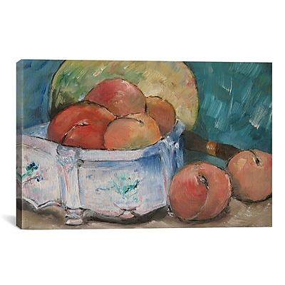 iCanvas 'Fruit Bowl' by Paul Cezanne Painting Print on Canvas; 26'' H x 40'' W x 1.5'' D