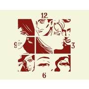 Style and Apply Comic Wall Clock Wall Decal; Dark Red