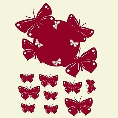 Style and Apply Butterfly Wall Clock Wall Decal; Copper