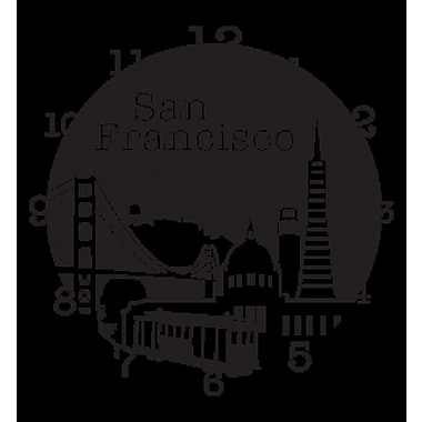 Style and Apply San Francisco Wall Clock Wall Decal; Dark Green