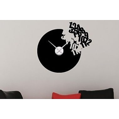 Style and Apply Flying Numbers Wall Clock Wall Decal; Yellow