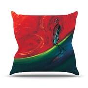 KESS InHouse Glide Outdoor Throw Pillow; 20'' H x 20'' W x 4'' D
