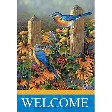 Jozie B Blue Birds 2-Sided Garden Flag; 18'' H x 13'' W